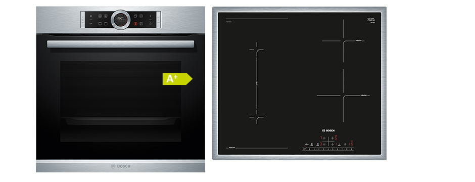bosch 60cm induktions backofenset 999 k chen busch k chen busch. Black Bedroom Furniture Sets. Home Design Ideas