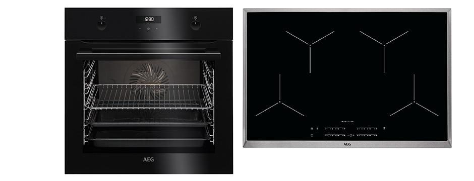 aeg 80 cm induktions backofenset 4 899 k chen busch. Black Bedroom Furniture Sets. Home Design Ideas