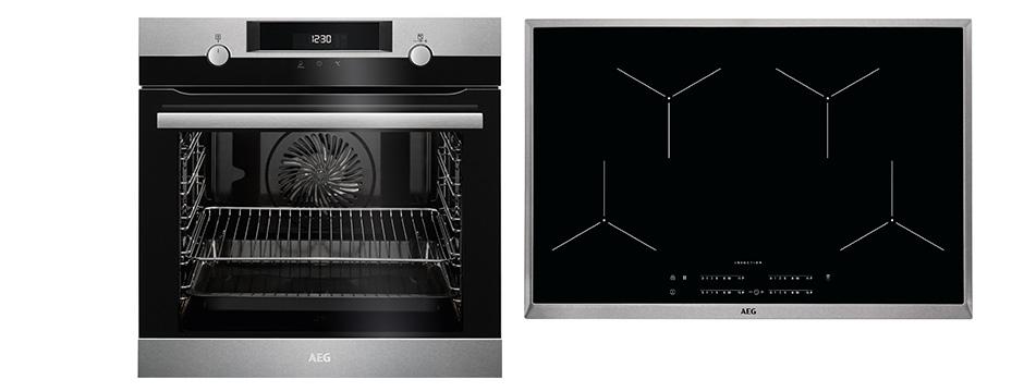 aeg 80 cm induktions backofenset 6 999 k chen busch k chen busch. Black Bedroom Furniture Sets. Home Design Ideas