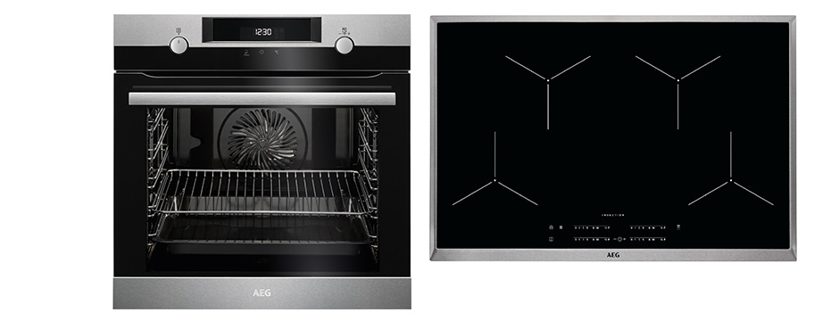 aeg 80 cm induktions backofenset 6 999 k chen busch. Black Bedroom Furniture Sets. Home Design Ideas