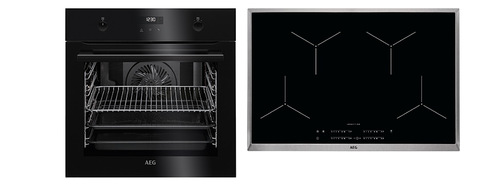 aeg 80 cm induktions backofenset 8 1029 k chen busch k chen busch. Black Bedroom Furniture Sets. Home Design Ideas